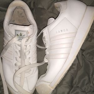White adidas Samoa shoes